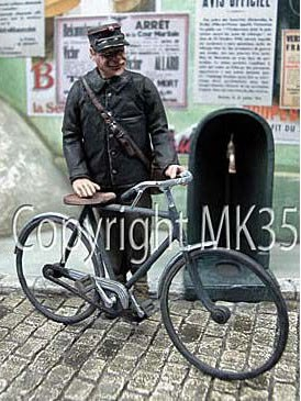 F226 The postman and his bike Image