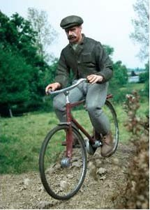 F117 Man going cycling Image