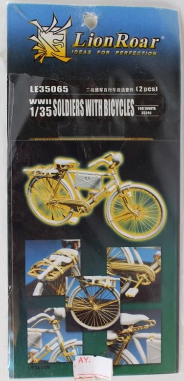 LE35065 Soldiers with Bicycles Image