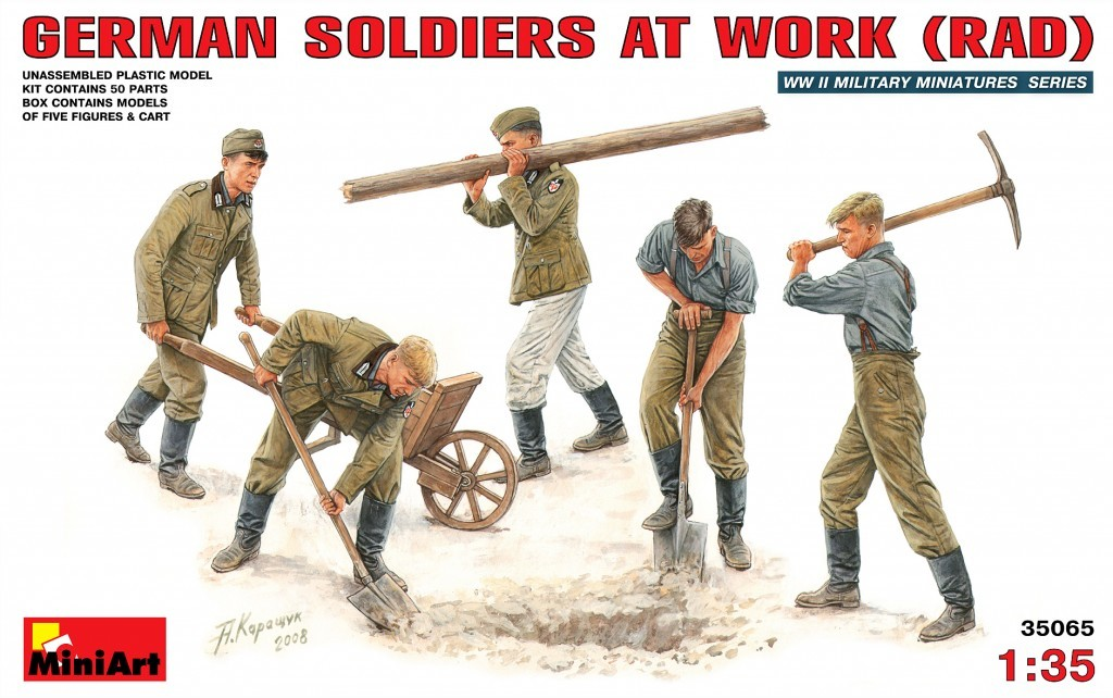 35065 German Soldiers at Work Image
