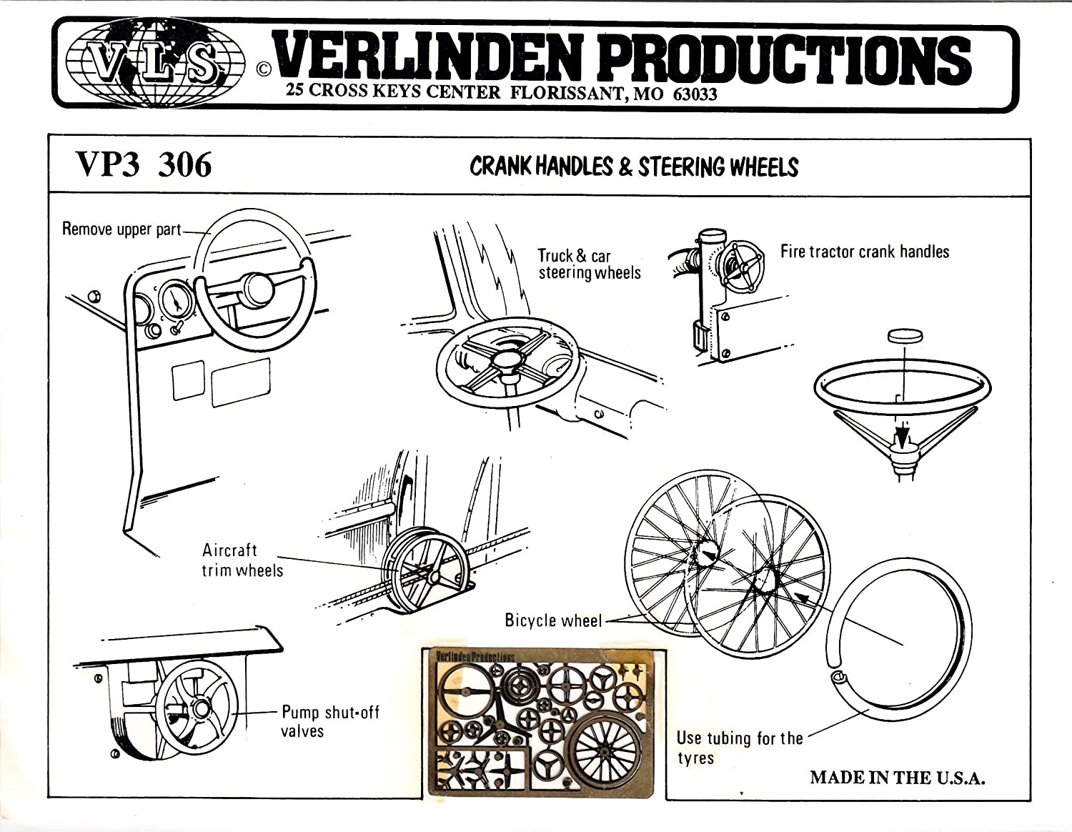 VP3 306 Crank Handles & Wheels Image