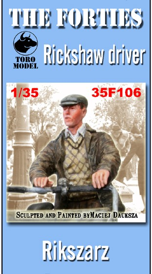 35F106 The Forties - Rickshaw driver Image