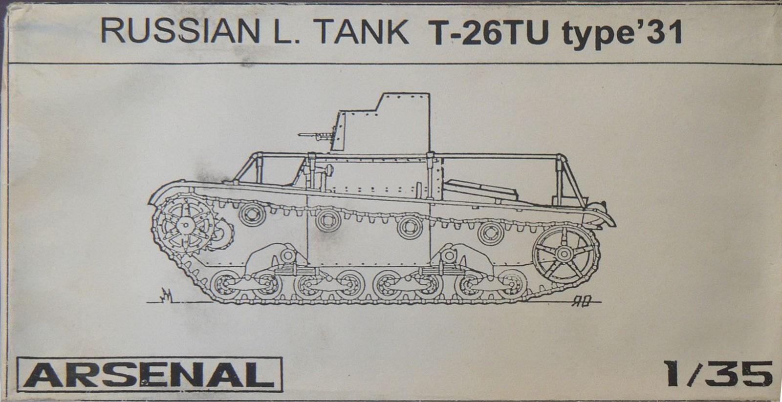 Russian L. Tank T-26TU type