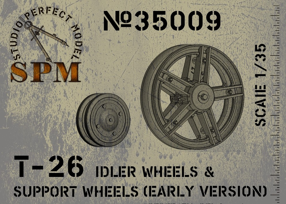 35009 T-26 Idler Wheels & Support Wheels Image