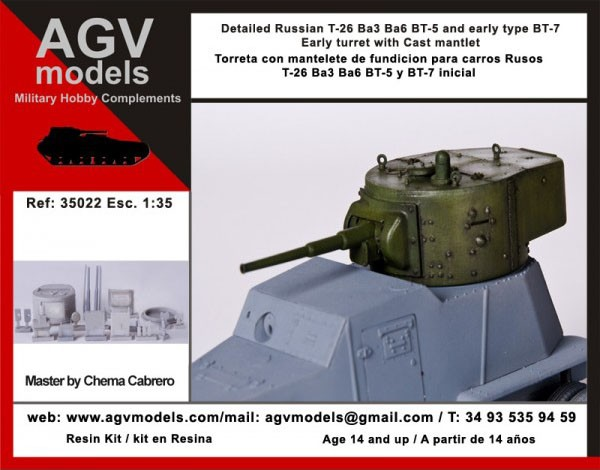 35022 Detailed Russian T-26 Image
