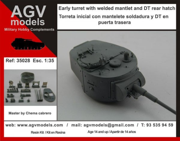 35028 Early Turret T-26 welded Image