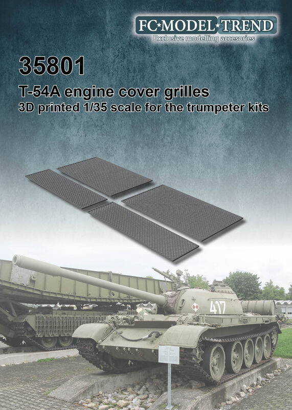 35801 T-54 engine cover meshes Image