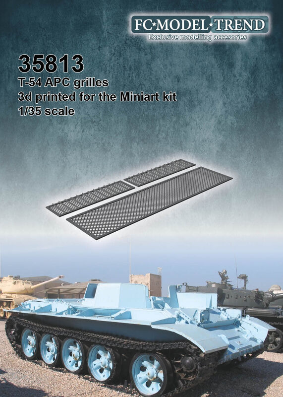 35813 T-54 APC engine cover meshes Image