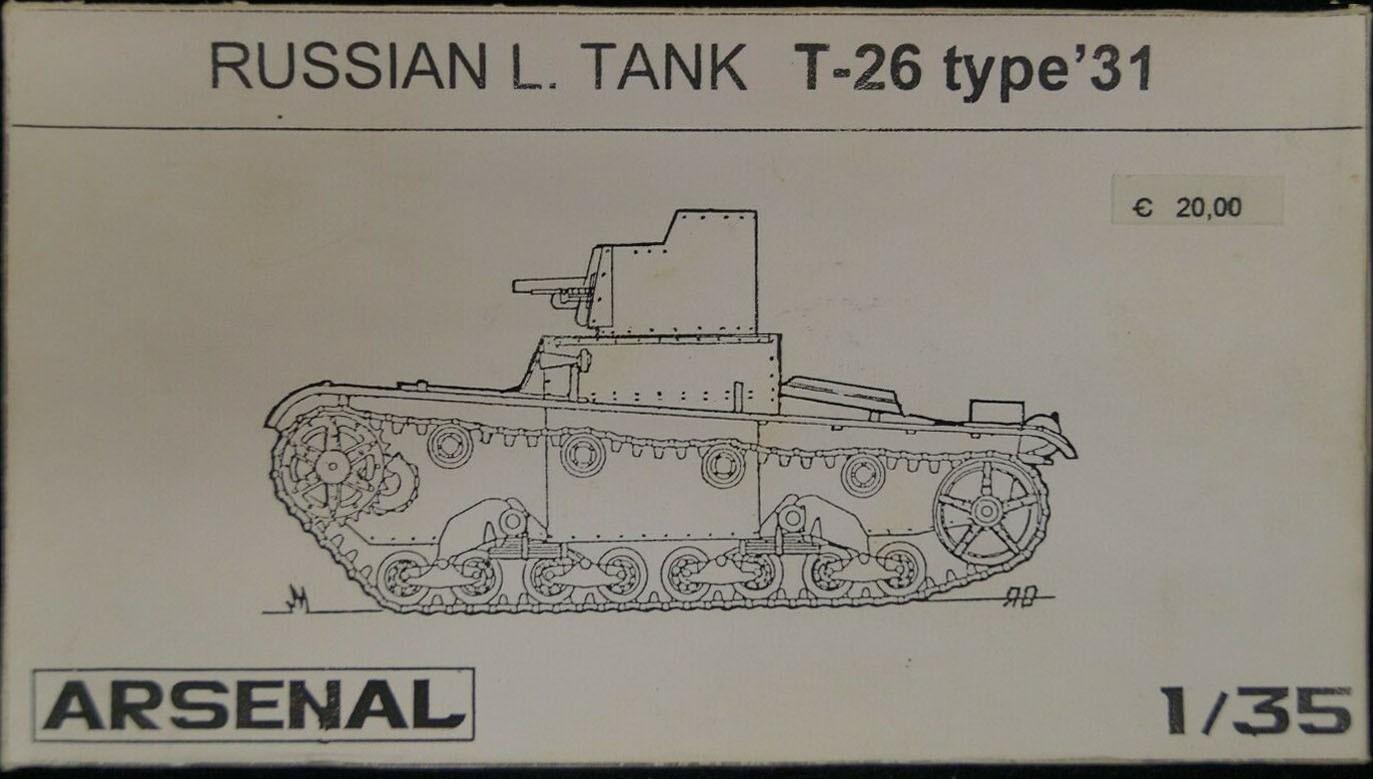 Russian Tank L. T-26 type