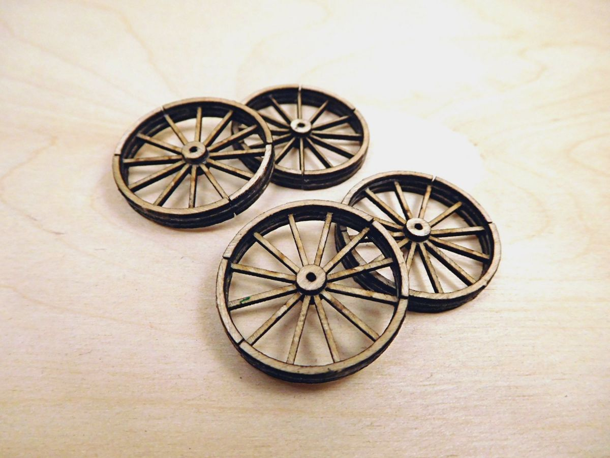 A35009 Cart Wheels S (28mm) Image